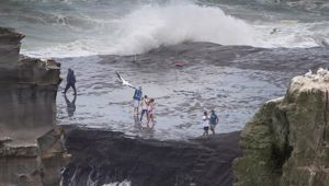Yesterday's drowning was a tragedy, but Muriwai Beach is notorious for being dangerous. (Photo / NZ Herald)