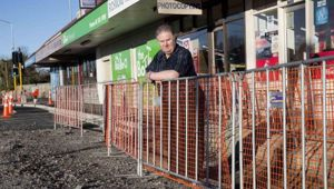 "While endless roadworks have ""basically destroyed"" the Richmond Village Book and PostCentre, business owner Alan Spooner said residents have been unsupportive. (Photo / Star.kiwi)"