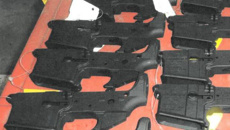 Police forget firearm parts taken after search