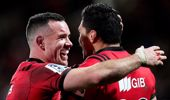 The Crusaders progressed to the Super Rugby semi-finals