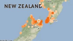 The quake was centred in Picton (Image / GeoNet)