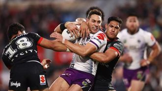 Melbourne Storm hold off New Zealand Warriors in NRL battle