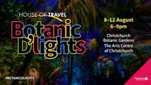 CHRISTCHURCH: House of Travel Botanic D'Lights