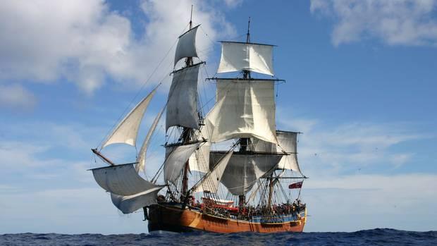 A replica of Captain Cook's ship Endeavour. Photo / File