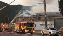 Large factory on fire in Lower Hutt
