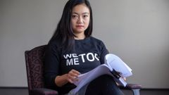 Grace Leung fought off a male attacker on a walkway at Massey University in Wellington. (Photo / Supplied)