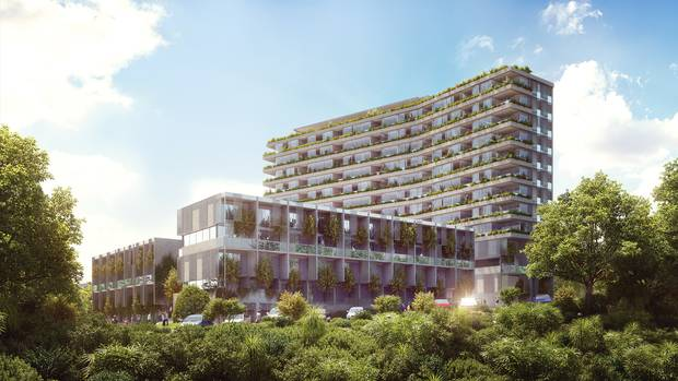 An artist's impression of Union Green apartment, which is currently only half-built. Photo/Supplied.