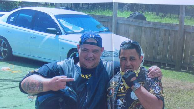 Tribesmen gang members Rawden Yates, left, and Kimble Moore were once close. It can now be revealed that Yates is charged with Moore's murder. Photo \ Supplied