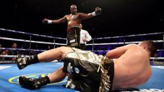 A controversial headbutt marred Whyte's victory over Parker. (Photo / NZ Herald)