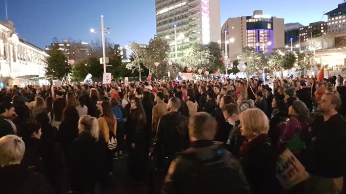 Image result for aotea square racism rally