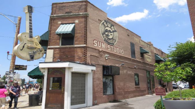 Elvis recorded his earliest hits at Sun Studios, which still operates as a recording studio. (Photo: Mike Yardley)