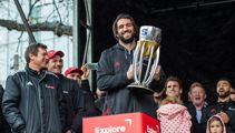 Fans battle rain to celebrate Crusaders Super Rugby victory