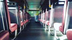 Father angry as teens made to sit on bus floor