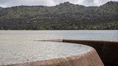 The Lower Nihotupu Dam, in the Waitakere Ranges, pictured on Monday. (Photo / Michael Craig)