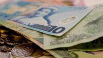 NZ dollar falls as RBNZ keeps OCR at record low