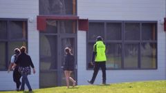 Security at Northland College after an assault last week. Photo/Supplied