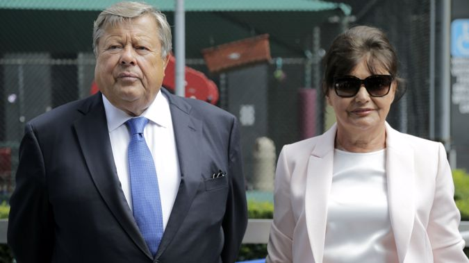 Viktor and Amalija Knavs had their green card sponsored by their First Lady daughter. (Photo / AP)