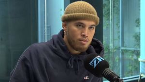 Stan Walker speaks with Jack Tame about his battle with cancer. Photo \ Newstalk ZB