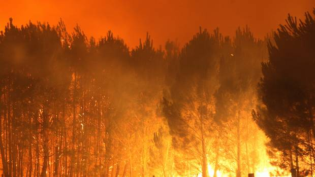 """The average season length with """"very high and extreme"""" climatic fire risk could almost double under climate change by 2090. (Photo / Herald)"""