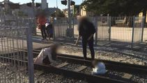 Shock after baby placed on train tracks for photoshoot