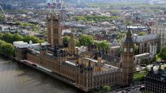 Car crashes into security barriers outside Britain's Houses of Parliament