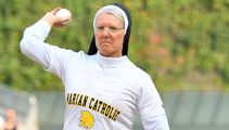 Nun becomes an internet sensation after throwing perfect first pitch