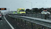 Major delays hit Auckland motorist after car flips
