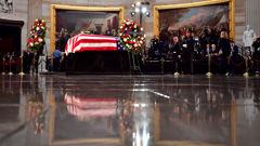 The funeral of former U.S senator John McCain stirred criticism in regard to America's current political state. (Photo Getty)