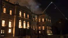 Firefighters battle massive blaze at 200-year-old Rio museum