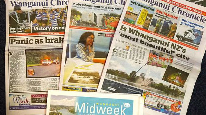 Whanganui residents and businesses will continue to enjoy the best local news and sport under a slightly revised masthead. Photo / Bevan Conley