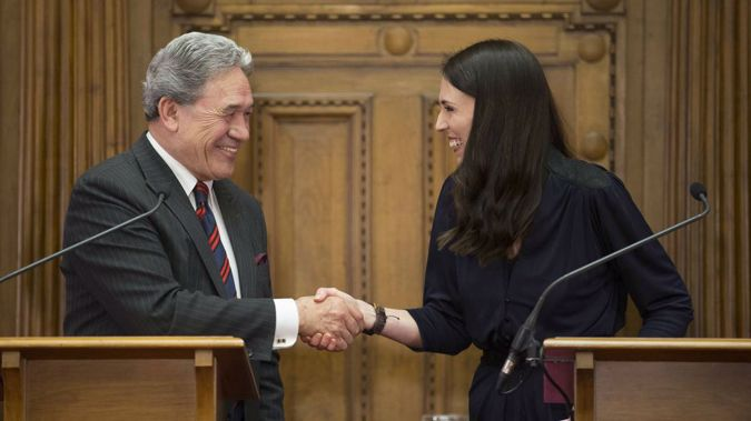 Prime Minister Jacinda Ardern and Winston Peters. Photo / NZ Herald