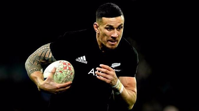 A shoulder injury has kept Sonny Bill Williams out of the All Blacks since June. Photo / Photosport