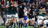 South Africa stunned the All Blacks in Wellington last night.