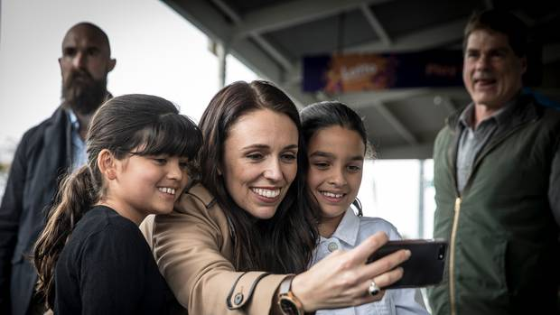 Labour Party leader Jacinda Ardern campaigning in Grey Lynn in 2017. Photo / Michael Craig