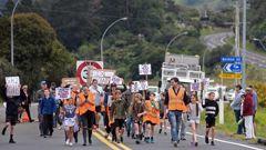 SH2 hikoi protest. 16 September 2018 Bay of Plenty Times. Photo / George Novak