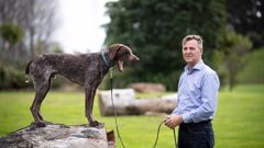 Dog behaviour specialist Flip Calkoen with student Beau, a German shorthaired pointer. (Photo / Dean Purcell)