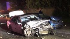 Four cars written off in serious North Shore crash