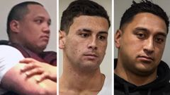 Pleading guilty in the Rotorua District Court today were Shannon Apirana (left), Sebastien Wineera and Ryan Lingman. Photo / Stephen Parker