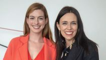 Hollywood royalty: Jacinda Ardern meets with actress Anne Hathaway