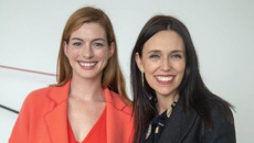 Jacinda Ardern meets with actress Anne Hathaway