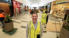 Tauranga Crossing chief executive Steve Lewis in front of the first stage of the enclosed mall the day before it opens. Photo / George Novak