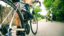 Cyclist sought after hitting toddler and fleeing scene