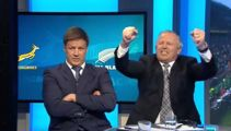 Sean Fitzpatrick's hilarious on-air celebration after All Blacks victory