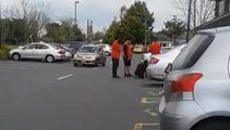 Watch: The Warehouse staff kick alleged shoplifter in Hamilton