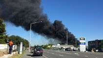 Black smoke from large Hornby fire drifting towards airport