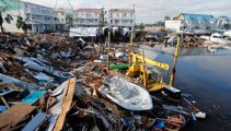 'Unimaginable destruction': Hurricane smashes rows of houses