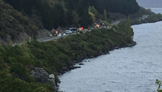 One dead after car and bus crash on Devil's Staircase near Queenstown