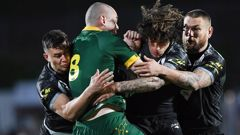 The Kangaroos were bested by the Kiwis in a stunning victory last night. (Photo / Getty)