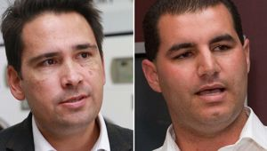 Simon Bridges and Jami-Lee Ross