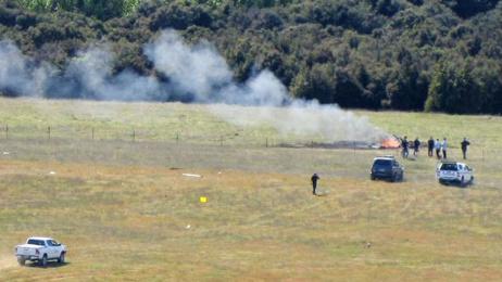 Helicopter crashes near Wanaka Airport